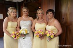 Bride and bridesmaid flower