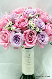 Pink and lavender roses