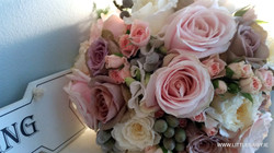 Pink roses and berry