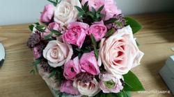 Large pink rose bouquet