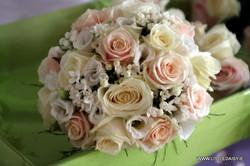 Peach and cream roses
