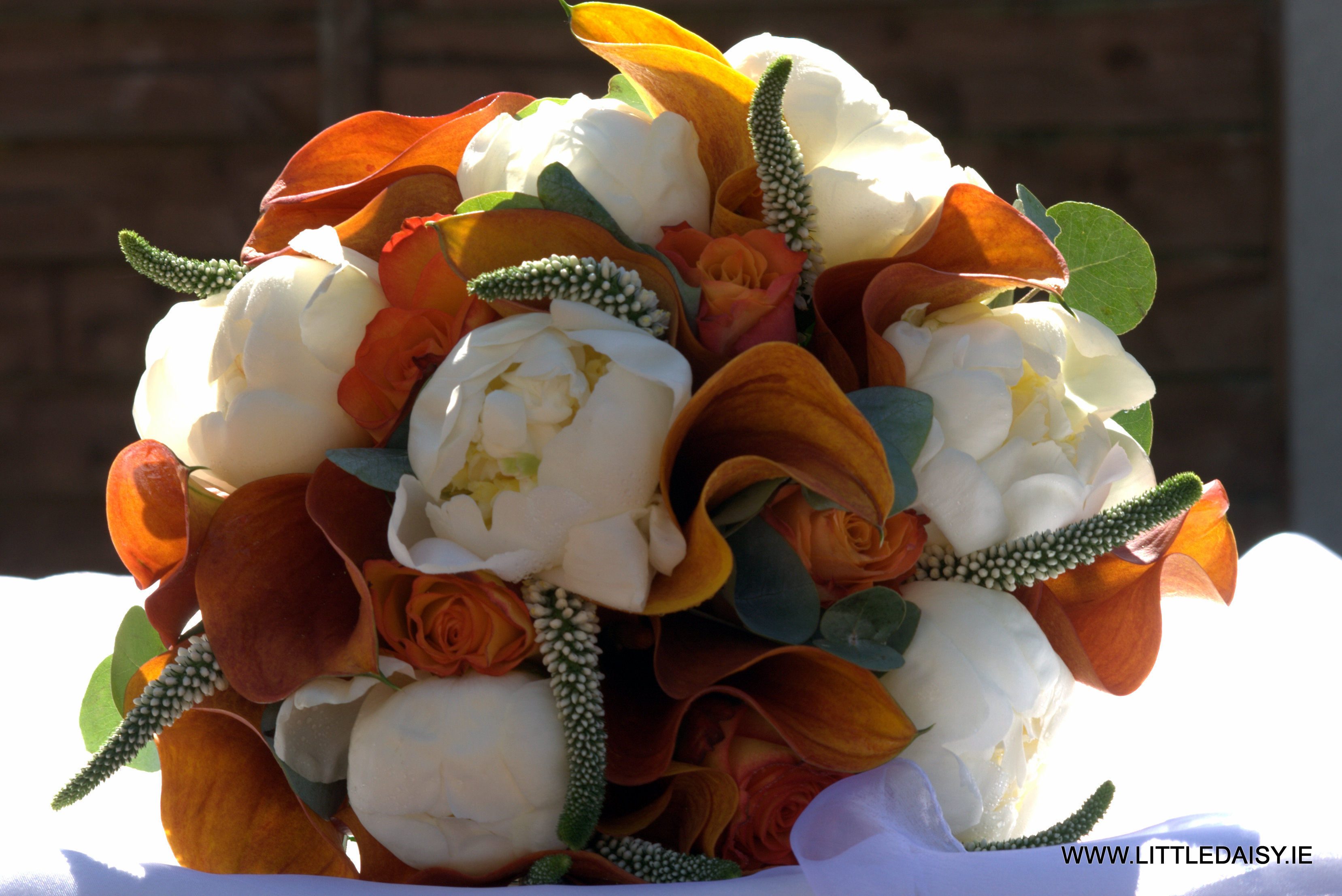 Mango calla lilly bridal bouquet