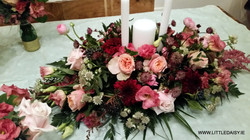 Ceremony candle flowers