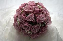 Pink bridal flowers