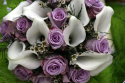 white calla lilly wedding flowers