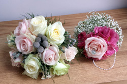 Bridal flower white and pink