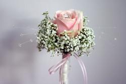 pink rose wedding flowers