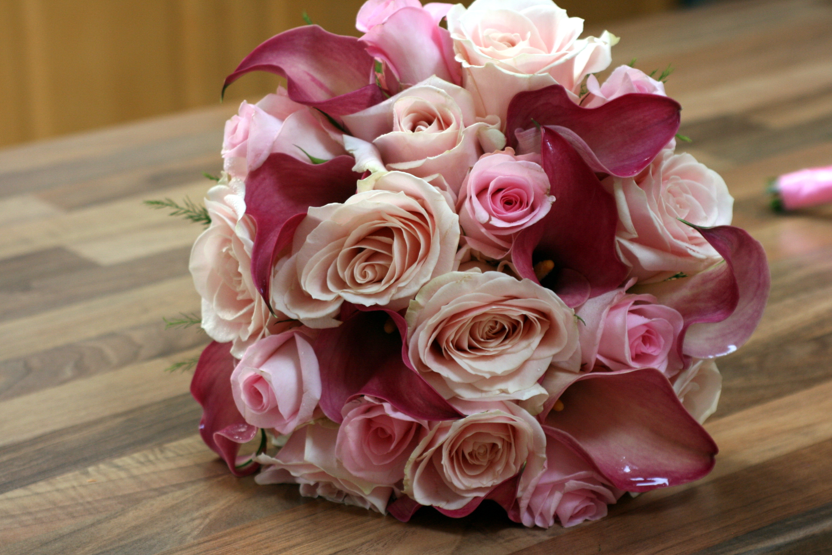 Pale pink bridal flowers
