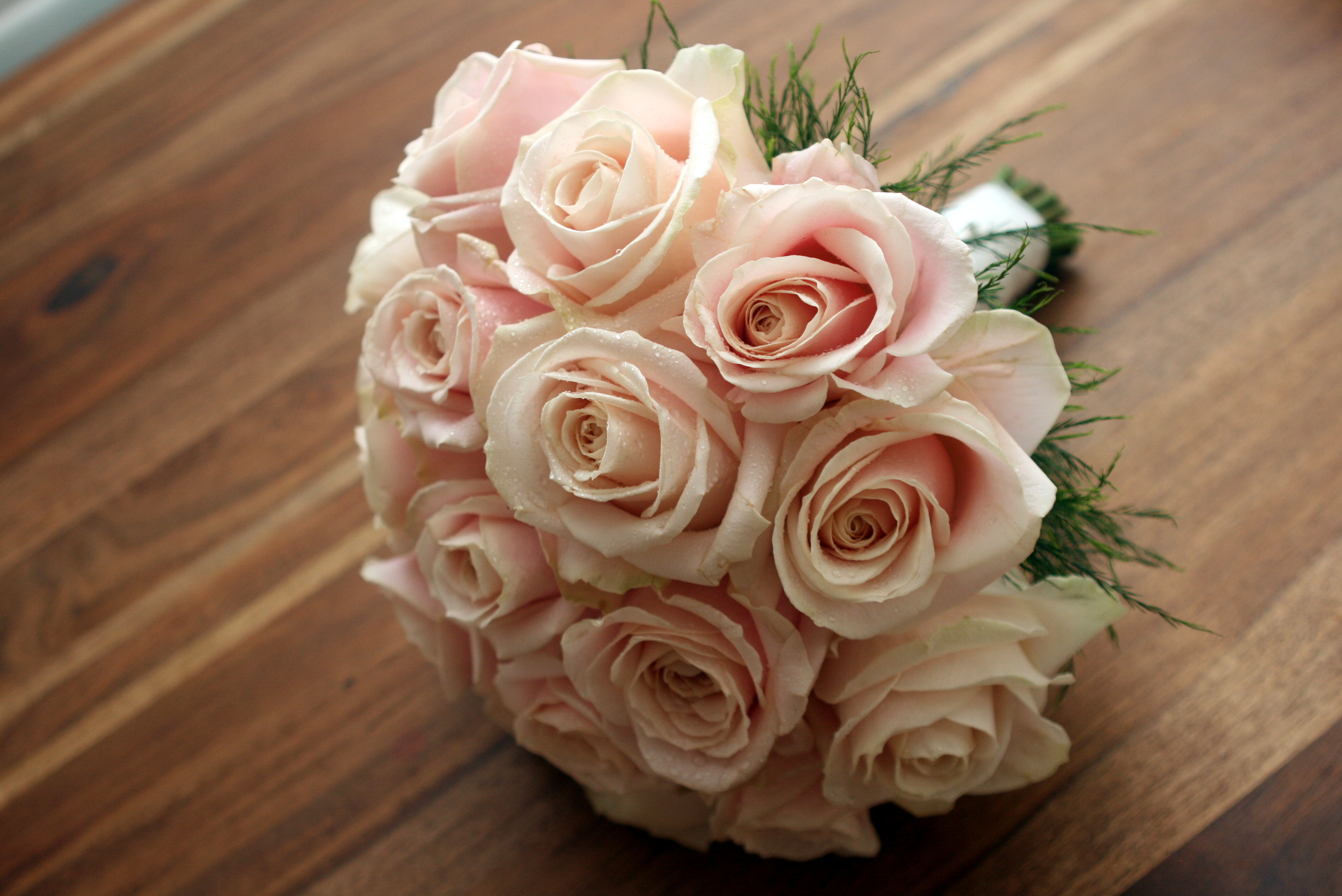 Pink round bridal bouquet
