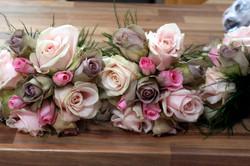 Vintage rose bridal bouquet