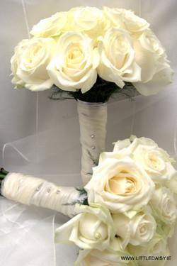 White rose bridal flowers