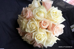 Pale pink and white rose bouquet