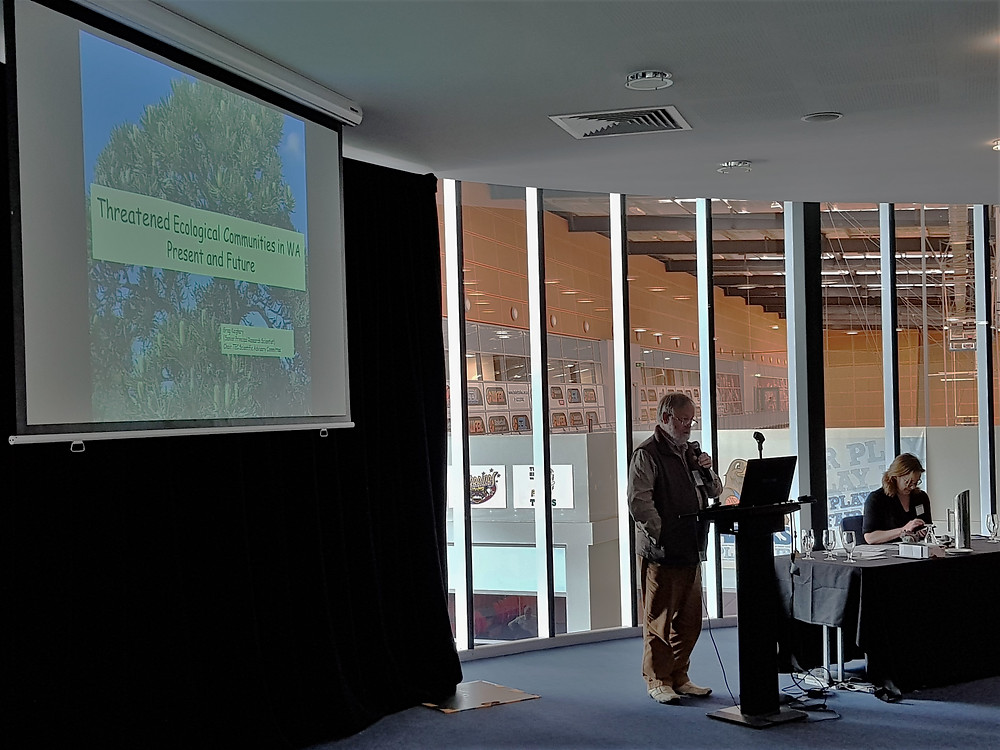 Greg Keighery, Chair of the Threatened Ecological Community (TEC) Scientific Advisory Committee, presents a talk on TECs in WA
