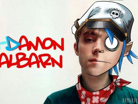 Damon Albarn de viaje y jugando con su IPad.