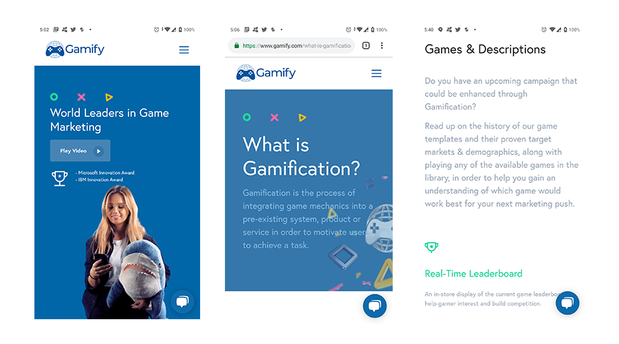 Gamify gamified game advertising platform by Monstar Lab Philippines.