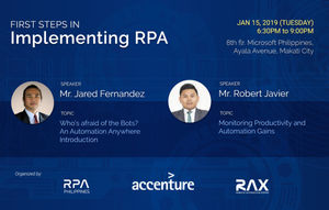 2nd RPA Meetup: First Steps in Implementing RPA