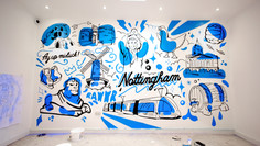 Mural Walls in Student Halls