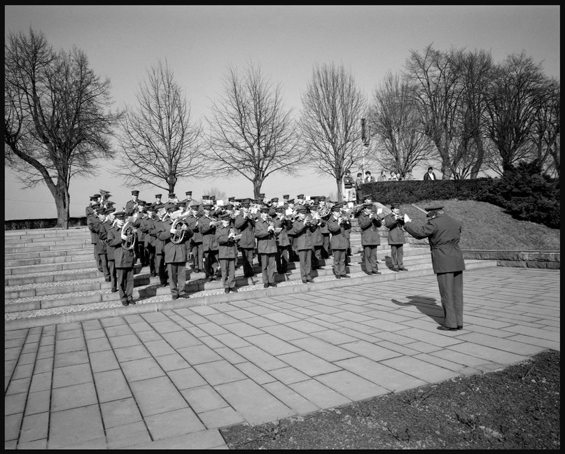 Picture taken in March, 1988, at Terezin (Theresienstadt) for a commemoration event.