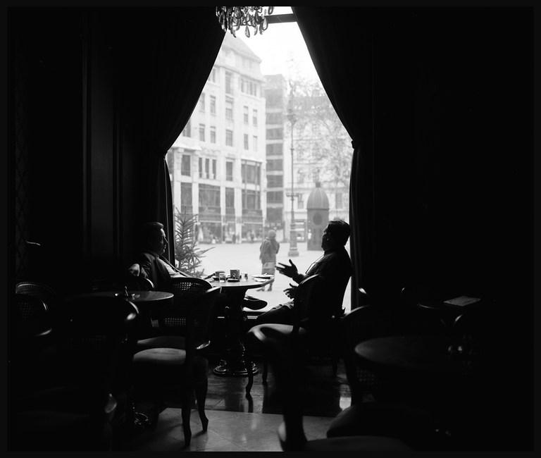 Café Gerbeaud, Budapest. March, 1988.