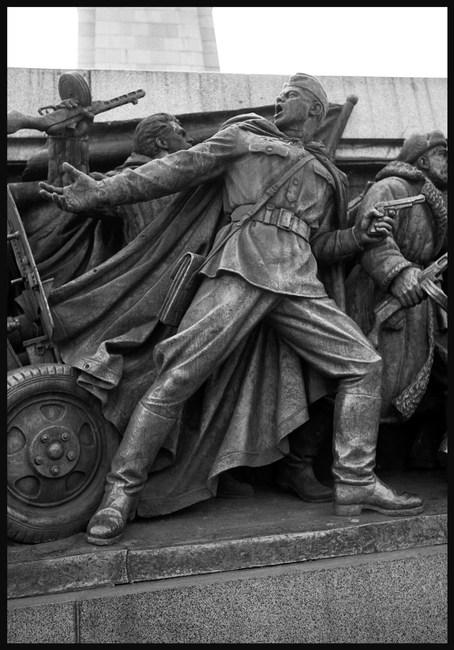 Soviet liberator memorial, Sofia, November, 1988.