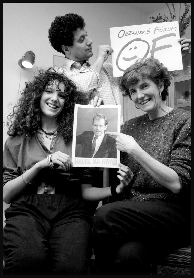 Ernyei family, Prague. December, 1989.
