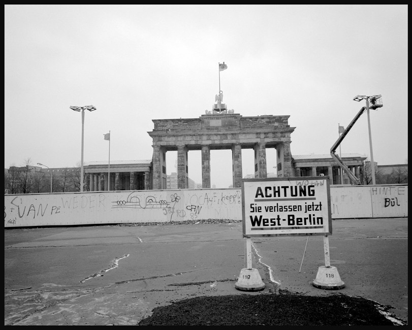 Berlin Wall from the West, November, 1987.