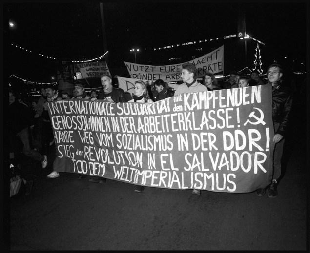 On the street, Berlin. November, 1989.