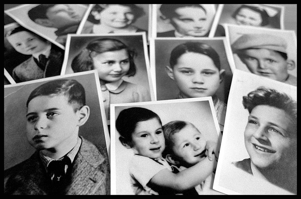 The photos are of children who were deported from Terezin to Auschwitz. None returned alive.