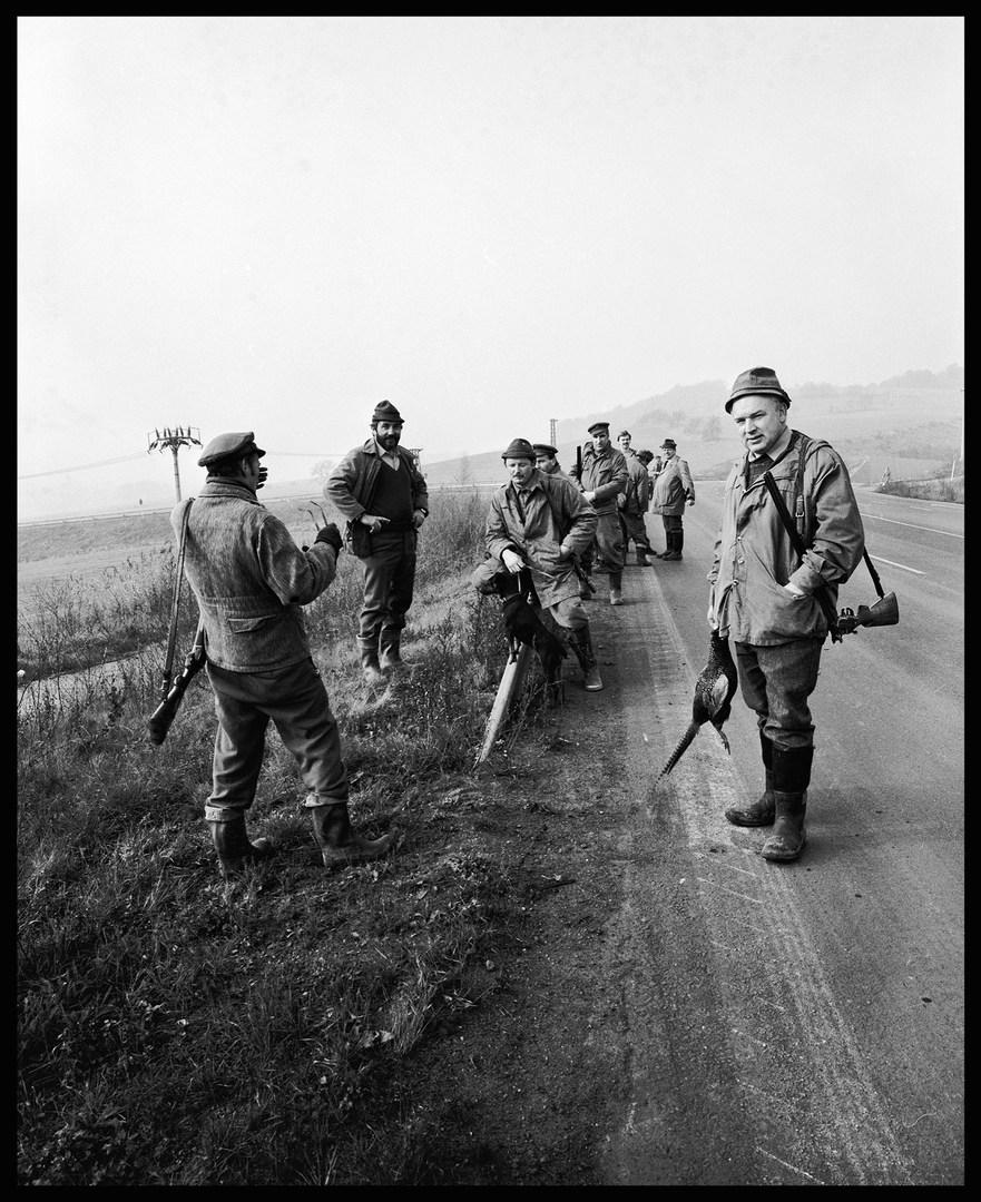 Hunting party near Teplice. November, 1988.