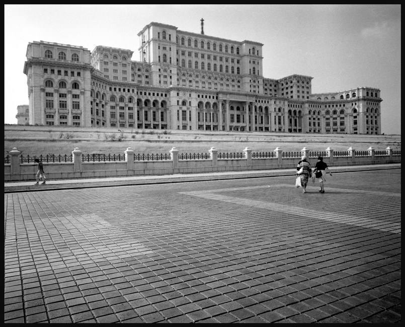 The Palace of the People, which was to be Romania's parliament,