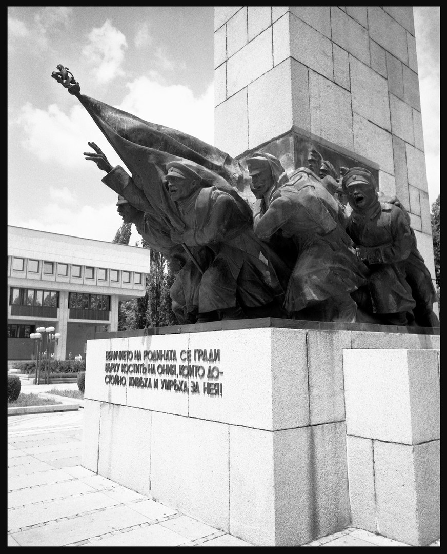 In the Danube port of Vidin, a monument for Bulgarian soldiers who fell during the 1912–1913 Balkan Wars and the First World War.