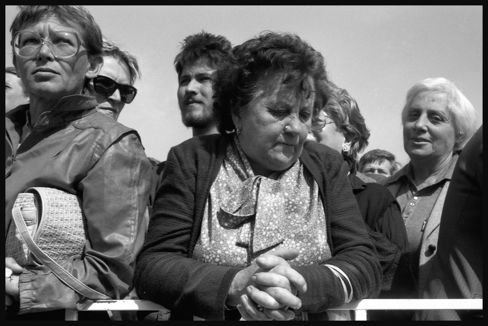 At the reburial of Imre Nagy, Budapest. 16 June, 1989.