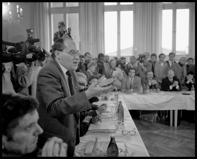 Gregor Gysi, new head of the SED party, East Berlin. November, 1989.