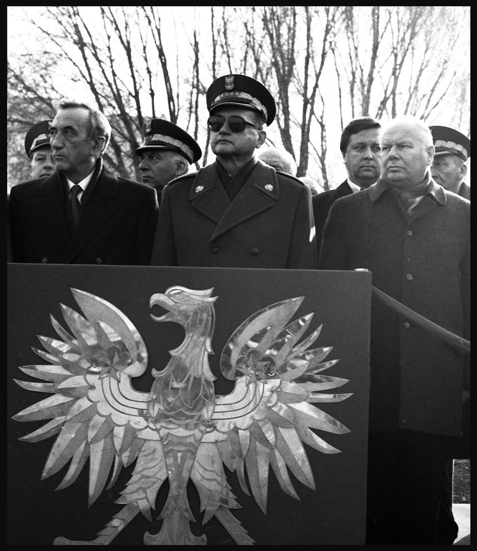 Prime Minister Tadeusz Mazowiecki with General Wojciech Jaruzelski, who was then President, Warsaw. November, 1989.