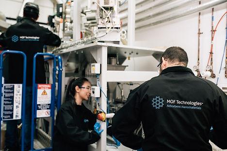MOF Technologies team at work