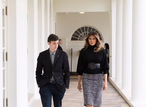 Kyle Kashuv with Melania Trump in the White House, photo courtesy of Andrea Hanks from the White House