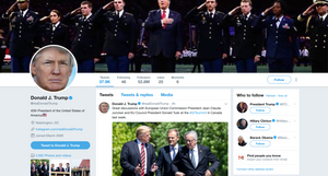 President Donald Trump's twitter @realDonaldTrump, credit: Twitter