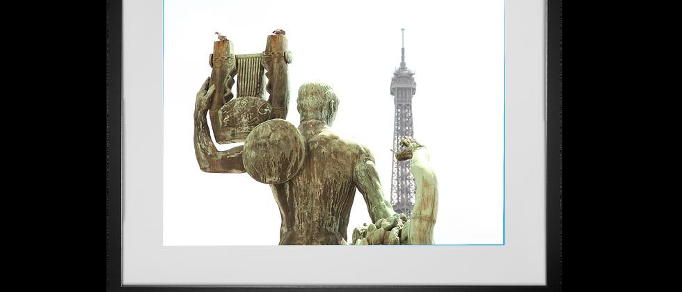 View of Eiffel Tower from Palais Chaillot, Trocadero, Paris