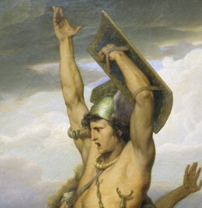Vercingétorix appelant les Gaulois à la défense d'Alaise par Ehrmann ou le roman national illustré.