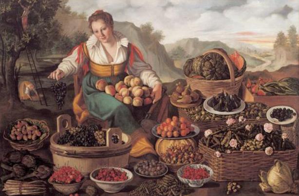 Vincenzo Campi, Marchande de fruits et de légumes, 1580, pinacothèque di Brera