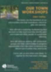 Our Towns workshop Eden Valley poster (1