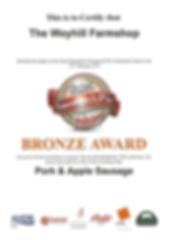 Award Winning Pork & Apple Sausage