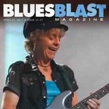 DEBBIE DAVIES ON THE COVER OF BLUES BLAST MAGAZINE