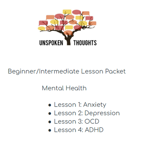 Lesson Packet: Mental Health