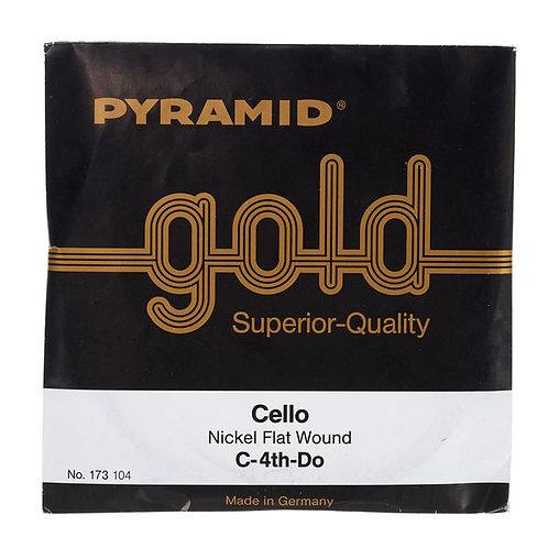 Pyramid Gold Cello String C - DO