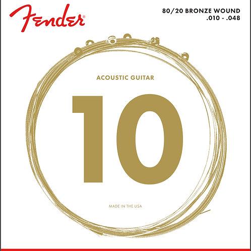 FENDER 70-12L 80/20 Bronze Acoustic Strings 10
