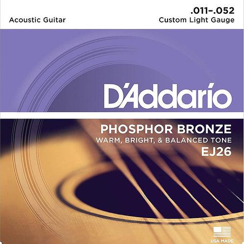 D'Addario EJ26 Phosphor Bronze 011 - 052