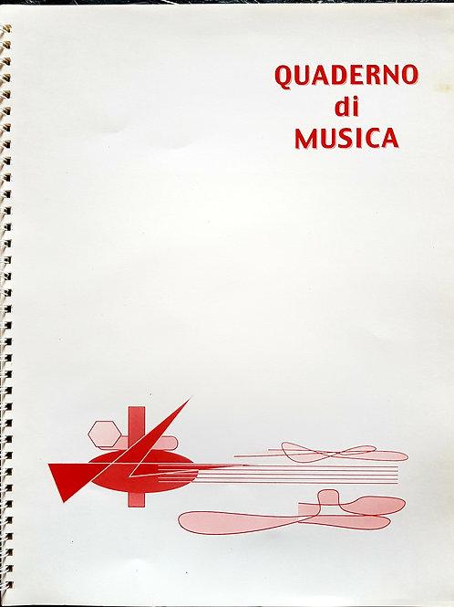 Quaderno pentagrammato di musica con Anelle - 32 pages