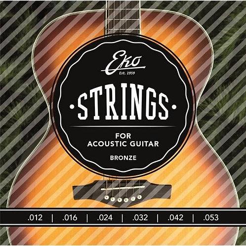 Eko Acoustic Guitar Strings Bronze 12-53