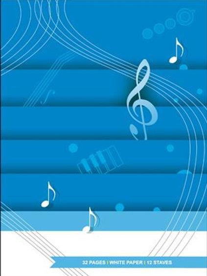 Quaderno pentagrammato di musica 32 pages - Hal Leonard MGB